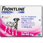 Merial DUAL PACK - Frontline DOG 20-40kg  [Large Dog]  (2 x 6 Pack)